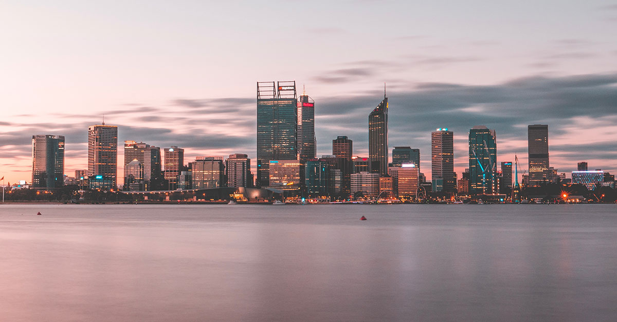 The Perth waterside skyline