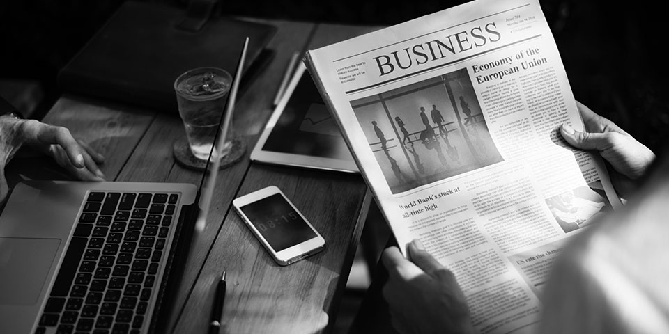 Business Section of a Paper