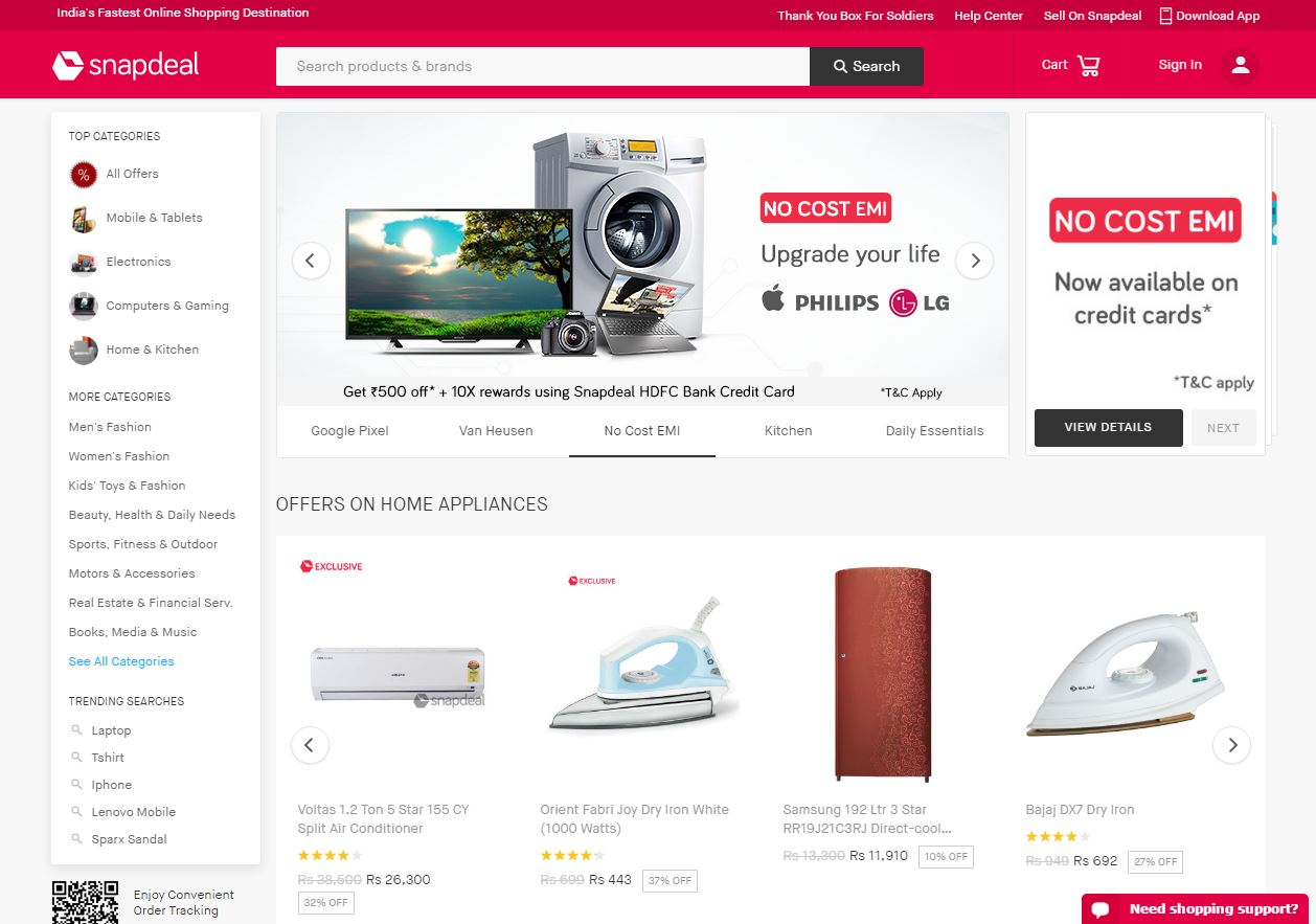 Snapdeal offers free training and support to sellers as well as help with  every aspect from visual merchandising to marketing