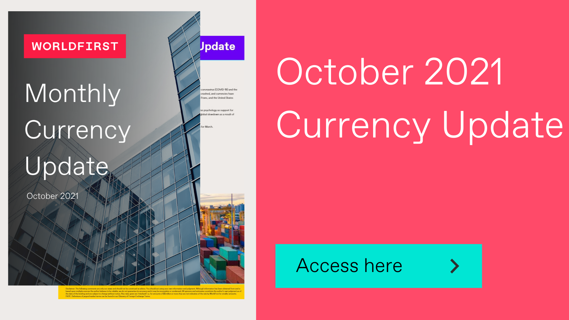 October 2021 currency update