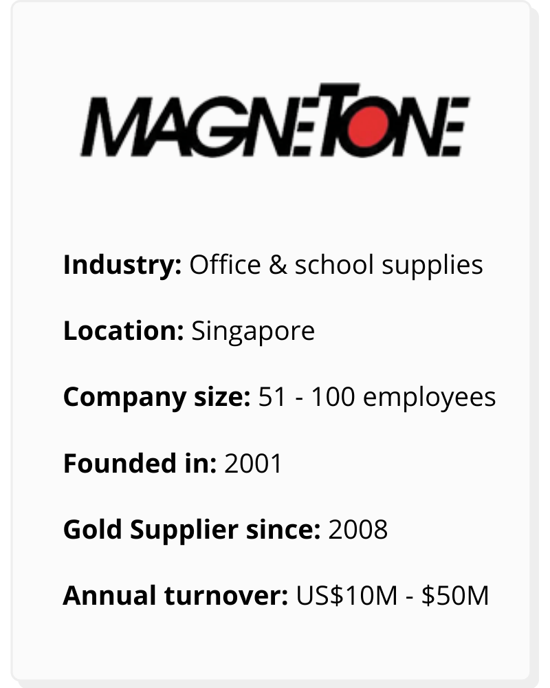 Magnetone has been an Alibaba.com Gold Supplier since 2008